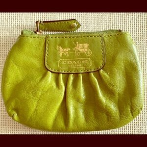 Lime Green Leather Coach Wallet